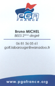 Carte PGA de Bruno MICHEL